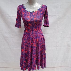 LulaRoe Nicole Limited Edition Rose Floral Dress